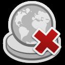 аватары: Значок земного шара с крестиком красным