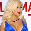 аватары: Кристина Агилера в синем платье