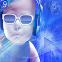 аватары: Лицо в очках и наушниках