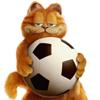 аватары: Кот рыжий с мячем
