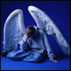 аватары: Ангел на голубом фоне