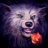 аватары: Волк с красной розой