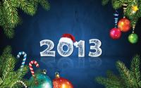 аватары: На синем фоне 2013 год и по углам ветки