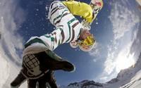аватары: Сноубордист показал руку в прыжке