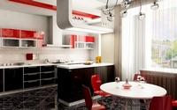 аватары: интерьер кухни с бокалами и графином на столе