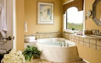 аватары: ванная украшенная букетом роз