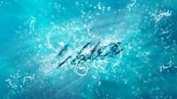 аватары: на голубом вода - надпись