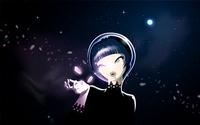 аватары: Девушка под ночным небом