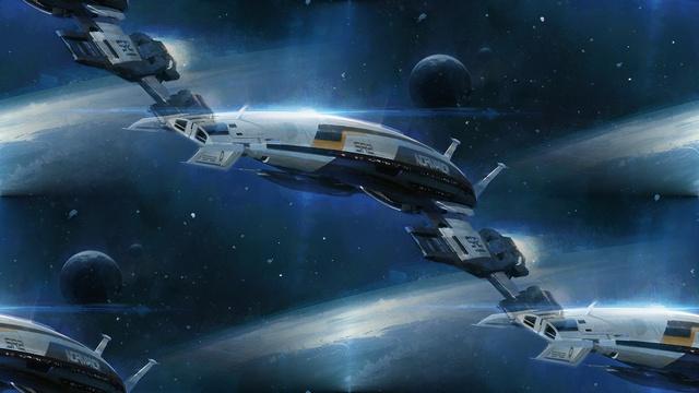 фон для дневника Рисунок междупланетного корабля в космическом пространстве