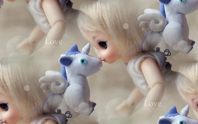 фон для дневника Кукла и игрушка
