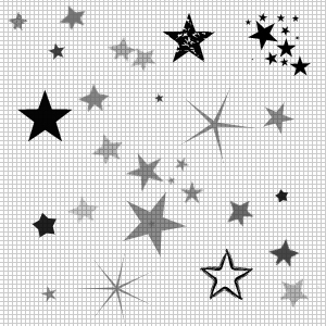 картинки черно белые звезды