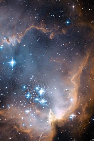 фон для дневника Звездная пыль в космосе