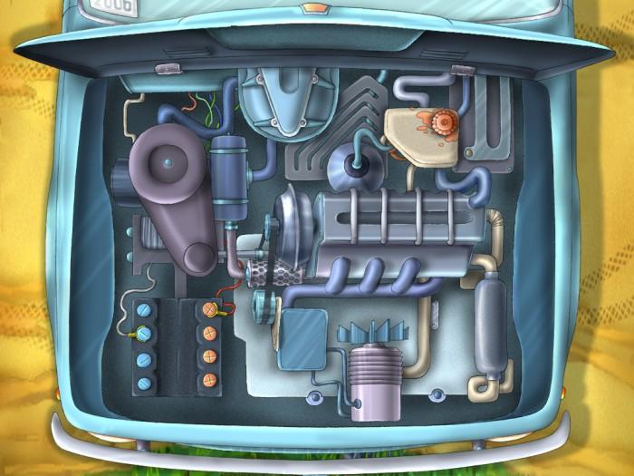фон для дневника Мотор в машине