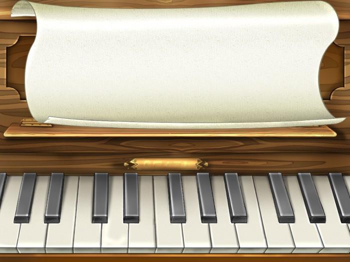 фон для дневника Ноты пианино
