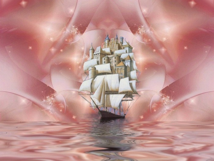фон для дневника Розовое море