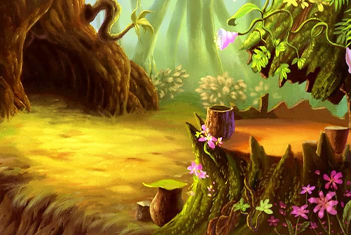 фон для дневника Дупло в дереве