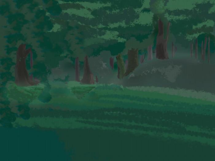 фон для дневника Пейзаж лес