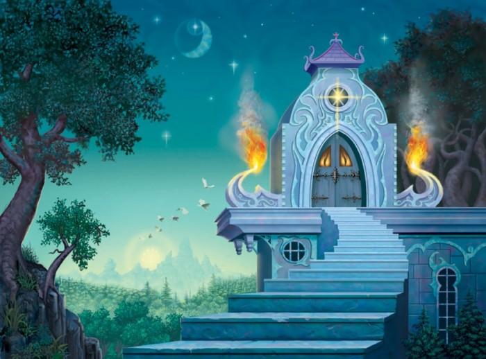 фон для дневника Лестница в дом