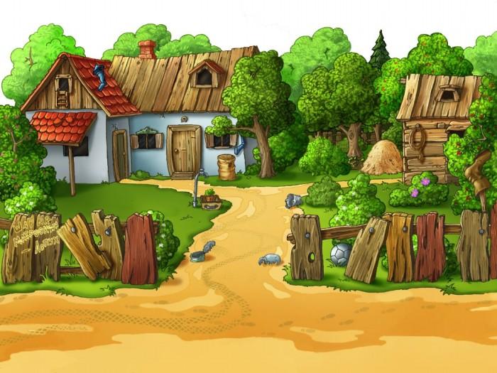 фон для дневника Маленькая деревня