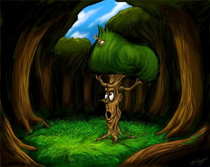 фон для дневника Говарящее дерево