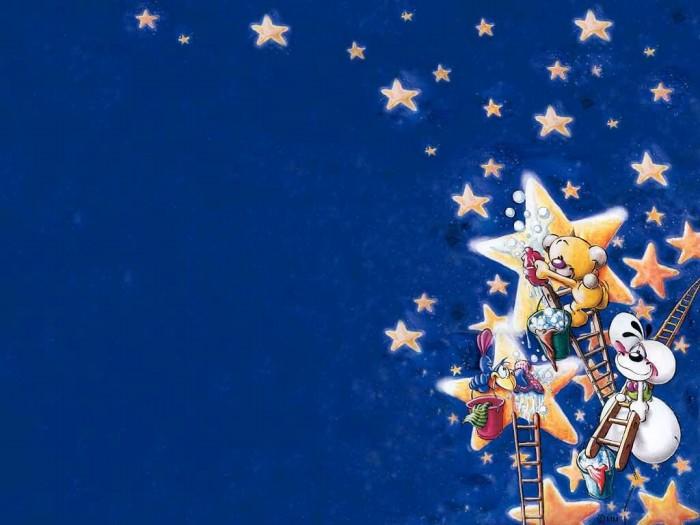 фон для дневника Звезды в небе