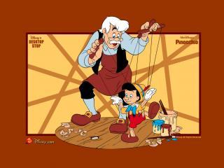 обои Пиноккио (Pinocchio, 1940). Папа Карло фото