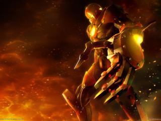 обои Огненный робот фото