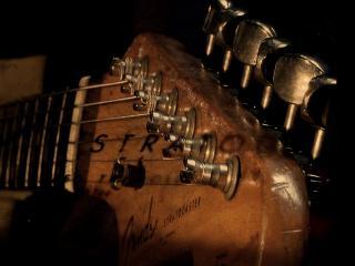 обои Гриф гитары крупным планом фото
