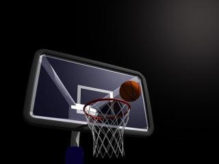 обои Баскетбольный мяч и кольцо фото