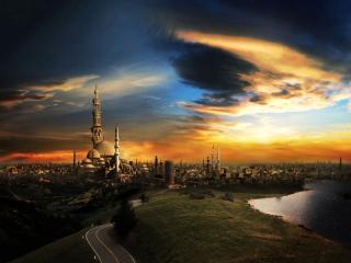обои Восточный город фото