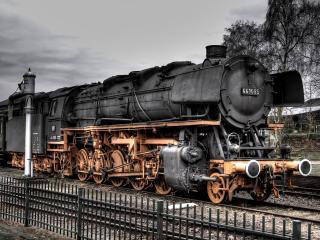 обои Старый паровоз фото