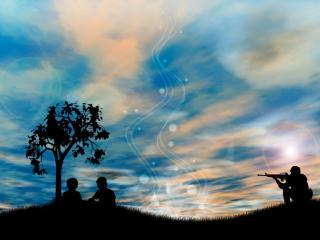 обои Люди под деревом фото