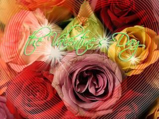 обои День Св. Валентина - Открытка с розами фото
