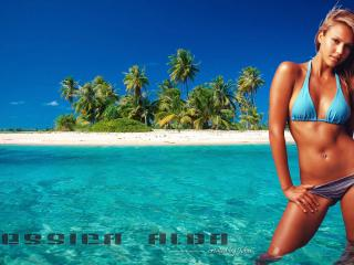 обои Jessica Alba in a bikini фото