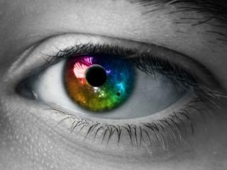 обои Глаз разноцветный фото