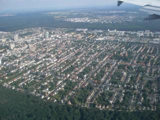обои Франкфурт вид из окна самолета фото