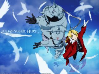 обои Fullmetal alchemist on wings of hope фото