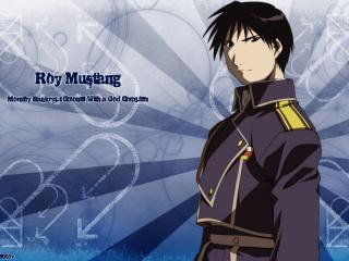 обои Fullmetal alchemist roy mustang blue style фото
