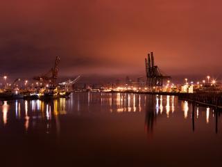 обои Ночной порт фото