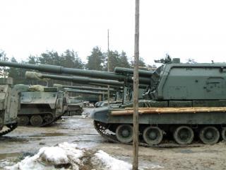 обои Зимний полигон 2005 - по линейке фото