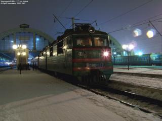 обои Ночная железная дорога фото