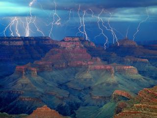 обои Гроза над Большим каньоном фото