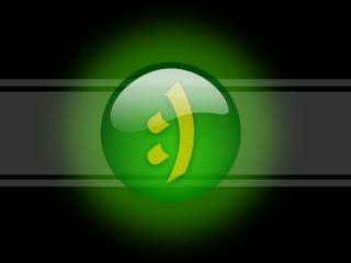 обои Японский смайлик (Green) фото