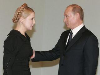 обои для рабочего стола: В.В.Путин, Ю.Тимошенко
