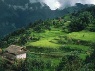 обои Домик в горах фото