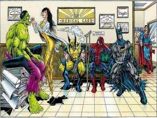 обои Marvel comics в больнице фото