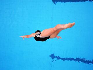 обои Прыжок в воду фото