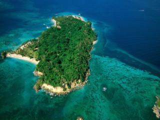 обои Вид на зеленый остров фото