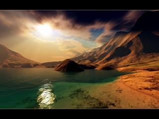 обои Залив в дюнах фото