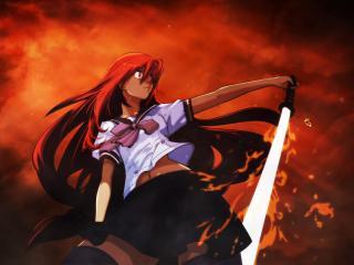 обои Враждующая с мечом фото